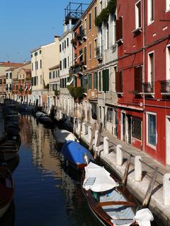 Häuserzeile in Dorsoduro, Venedig
