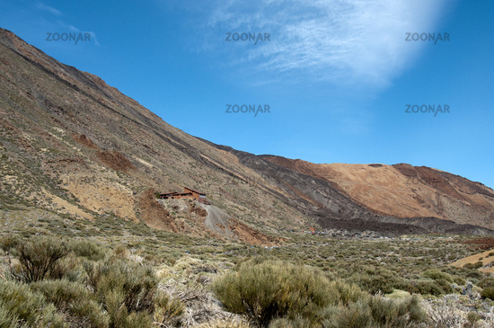 Seilbahn am Vulkan Pico del Teide auf der kanarische Insel Teneriffa