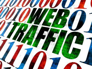Web development concept: Web Traffic on Digital background