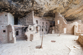 Cliff Palace ancient puebloan village of houses and dwellings in Mesa Verde National Park New Mexico USA