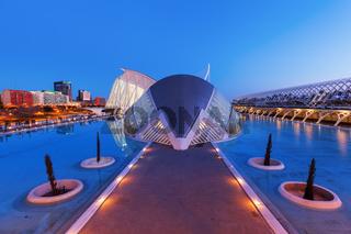 Stadt der Künste und der Wissenschaften in Valencia, Spanien