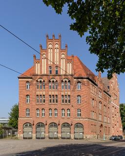 Denkmalgeschützte historische Feuerwache in Berlin-Lichtenberg
