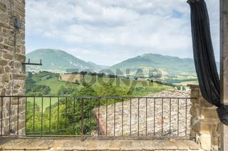nice view in Italy Marche near Camerino