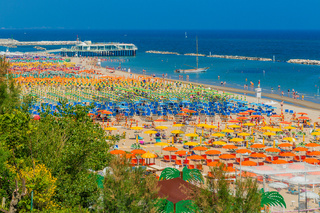 spectacular and colorful view of the beaches