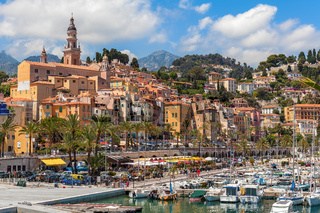 View of Menton, France.