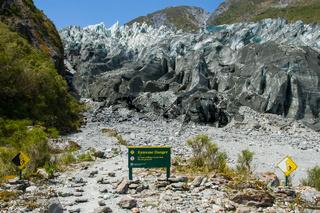 Fox Glacier Warning Sign