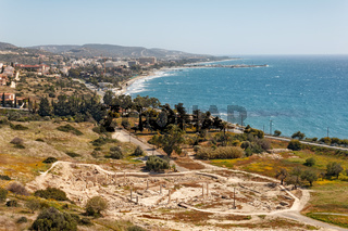 The ruins of the ancient city of Amathus, near Limassol, Cyprus