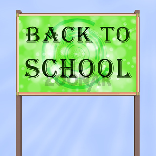 Advertising sign 'Back to School'