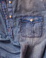 Jeans shirt close up
