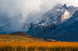 The Torres del Paine National Park in the south of Chile is one of the most beautiful mountain ranges in the world