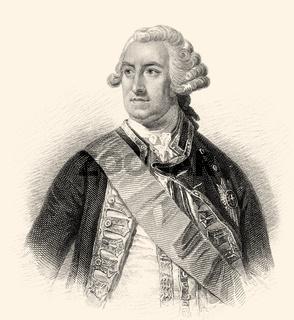 Admiral of the Fleet Edward Hawke, 1st Baron Hawke, 1705-1781, a Royal Navy officer