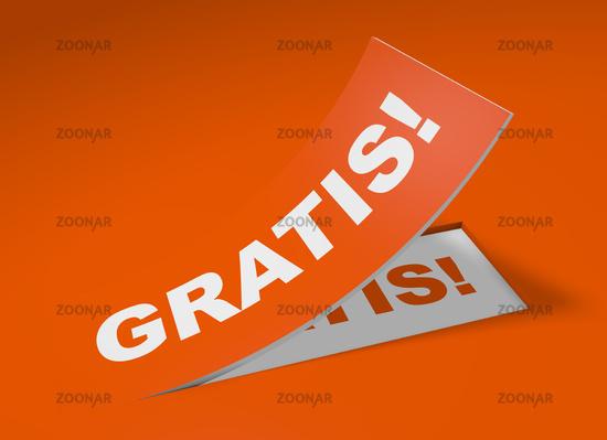 3D Etikett Orange - Gratis