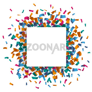 White Rectangle Confetti