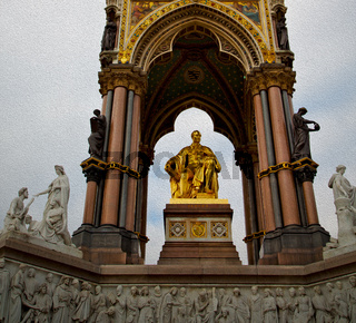 albert monument in london england kingdome and old construction