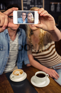 Couple taking a selfie