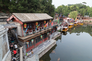 Historical Town on Suzhou River in Summer Palace Beijing