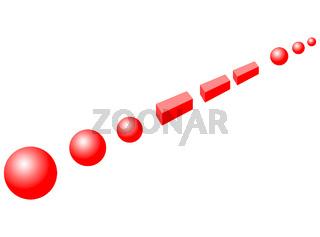 SOS message in Morse code