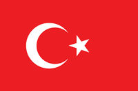 Vector of offficial flag of Turkey country