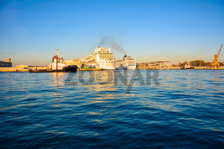 Cruise ship inport of venice