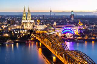 Cologne Cathedral aerial