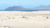 Dunes, Sand, Sea and Volcano in Fuerteventura