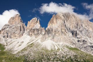 Sassolungo mountain peaks