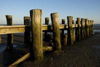 Seebrücke am Strand in Wyk auf Föhr