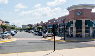Shopping street in Virginia Gateway Shopping Center in Gainesville, Virginia, USA