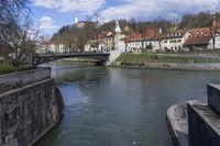 confluence of gradascica and ljubljanica rivers