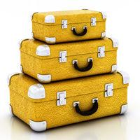yellow traveling bag