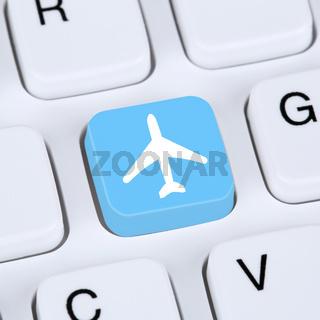 Internet Konzept Reisen und Urlaub online buchen E-Commerce einkaufen