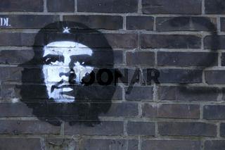 Grafito von Che Guevara in Hamburg