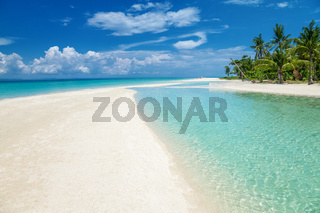 Paradise beach on the Bantayan island in Philippines