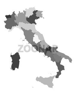 Karte von Italien - Map of Italy