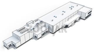 3d warehouse, factory building