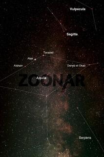 Nachthimmel mit Adler und Milchstraße