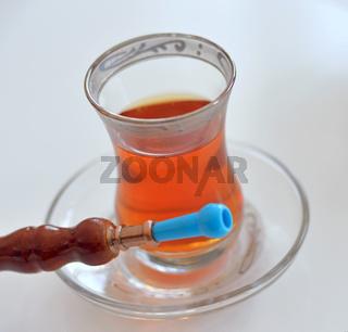 Pfeife mit Tee