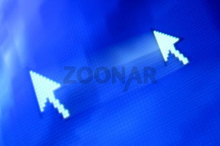 cursor arrow in move abstract background