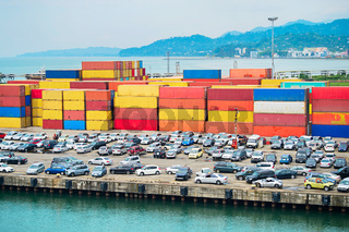 Batumi sea port. Georgia