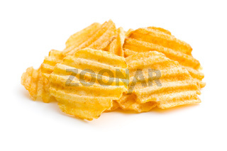 Crinkle cut potato chips.