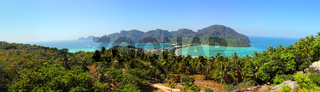 Panorama of Phi-Phi island in Thailand