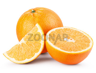 Orange fruits with slices