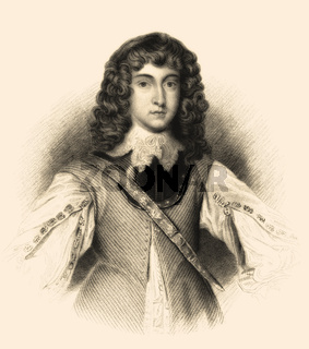 Rupert, Count Palatine of the Rhine,  1619-1682, a German soldier, admiral, scientist