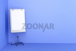 Flip chart in blue room