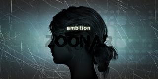 Woman Facing Ambition