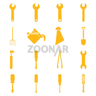 Instruments and tools icon set