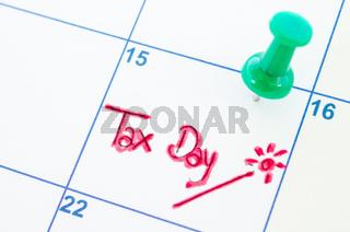 Tax day wording.