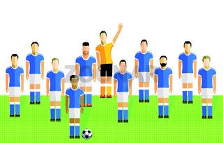 Fussballmannschaft.eps