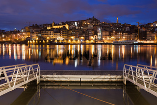 Porto by Night in Portugal
