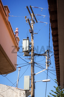 Strommast auf Kreta